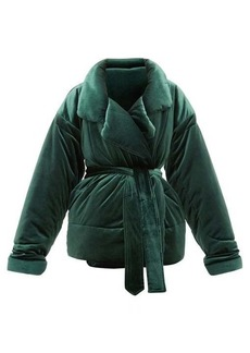 Norma Kamali Sleeping Bag padded velvet coat