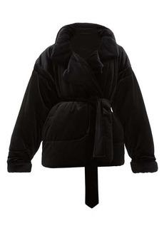 Norma Kamali Sleeping Bag padded velvet coat