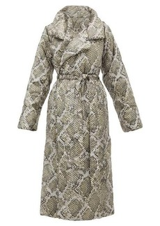 Norma Kamali Sleeping Bag snakeskin-print padded shell coat