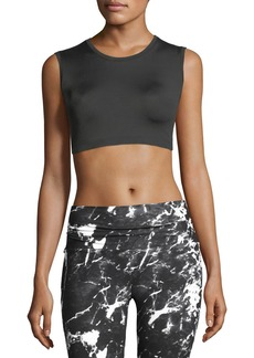 Norma Kamali Sleeveless Performance Crop Top