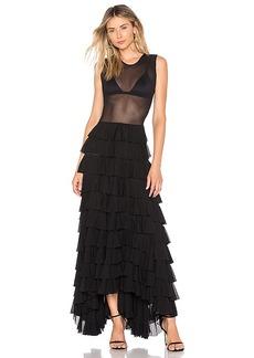 Norma Kamali Sleeveless Ruffle Dress