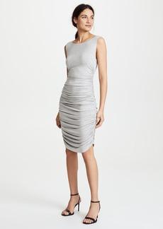 Norma Kamali Sleeveless Shirred Dress