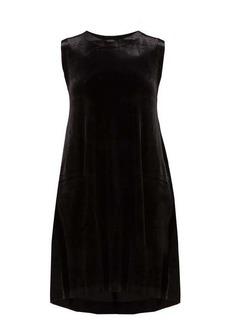 Norma Kamali Sleeveless stretch-velvet midi dress
