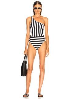 Norma Kamali Spliced One Shoulder Mio Swimsuit