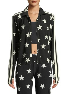 Norma Kamali Star-Print Side Stripe Turtle Jacket