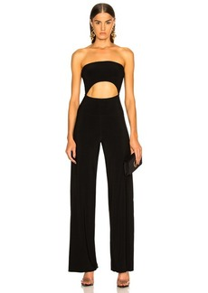 Norma Kamali Strapless Cut Out Jumpsuit