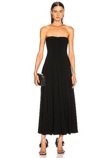 Norma Kamali Strapless Flared Midcalf Dress