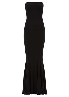 Norma Kamali Strapless technical-jersey fishtail dress