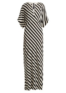 Norma Kamali Striped jersey dress