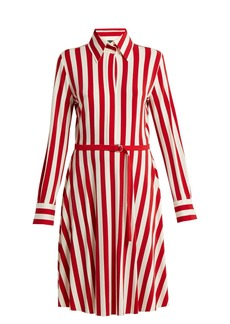 Norma Kamali Striped shirtdress
