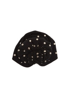 Norma Kamali Stud-embellished fan turban hat