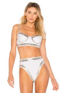 Norma Kamali Stud Underwire Bikini Top