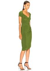 Norma Kamali Sweetheart Side Drape Dress