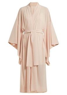 Norma Kamali Tie-waist crepe robe