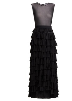 Norma Kamali Tiered tulle dress