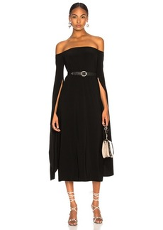 Norma Kamali Tulip Sleeve Off The Shoulder Dress