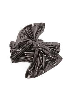 Norma Kamali Twist lamé turban headband