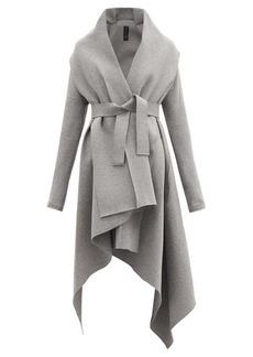Norma Kamali Uneven Blanket belted cotton-blend coat