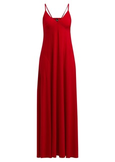 Norma Kamali V-neck jersey slip dress