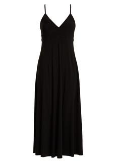 Norma Kamali V-neck jersey slip dress