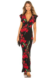 Norma Kamali V Neck Rectangle Dress