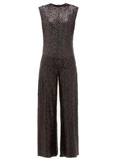 Norma Kamali Wide-leg sequin embellished jumpsuit