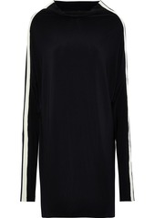 Norma Kamali Woman All In One Convertible Striped Stretch-jersey Dress Black