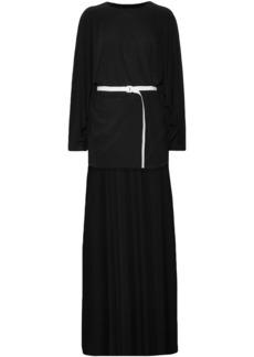 Norma Kamali Woman Belted Asymmetric Jersey Dress Black
