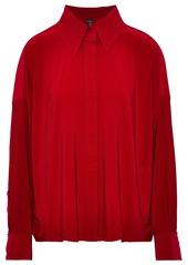 Norma Kamali Woman Cady Shirt Crimson
