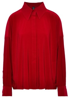 Norma Kamali Woman Cady Shirt Crimson