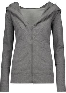 Norma Kamali Woman Cotton-blend Hooded Sweatshirt Gray