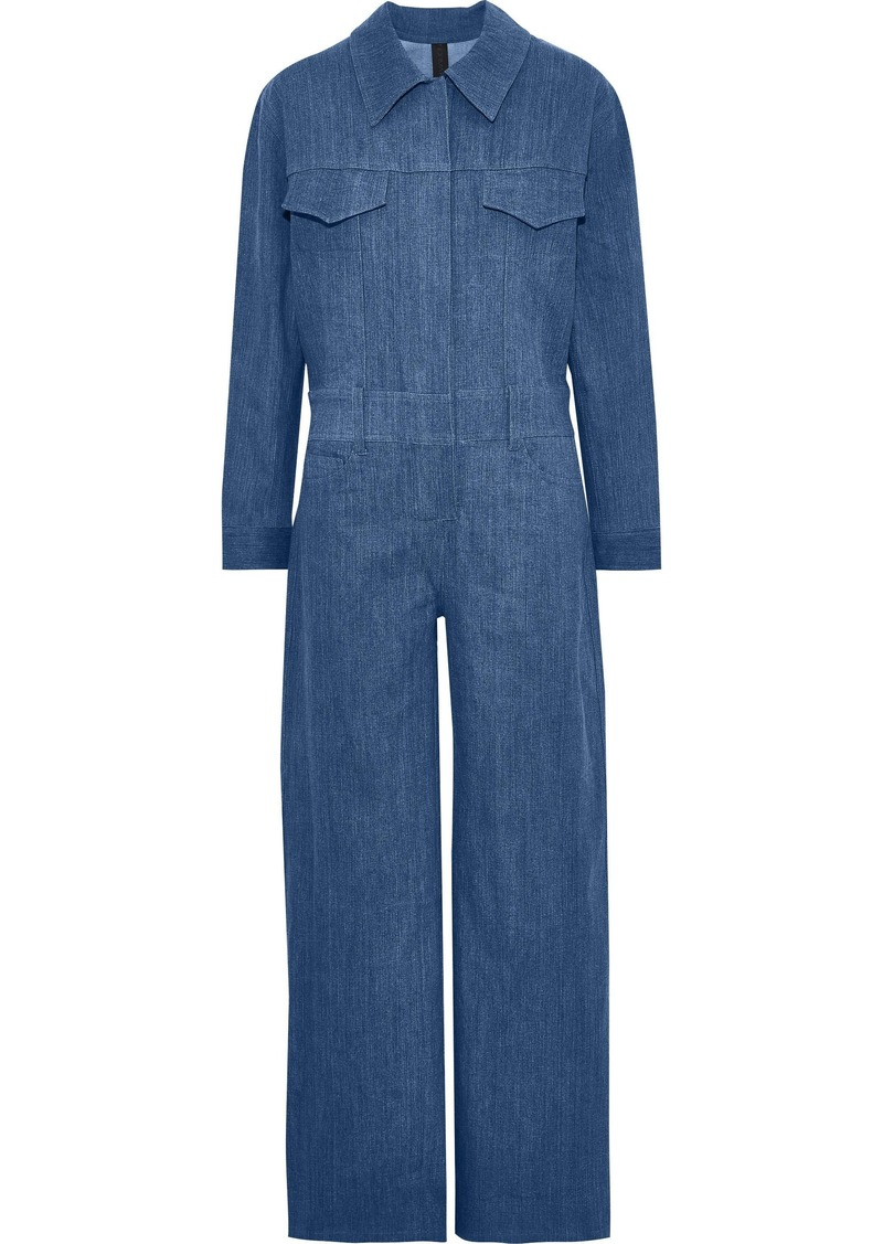 Norma Kamali Woman Denim Wide-leg Jumpsuit Mid Denim