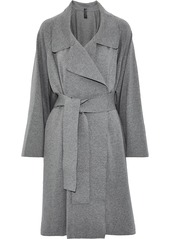 Norma Kamali Woman Dolman 80's Belted French Cotton-blend Terry Coat Gray