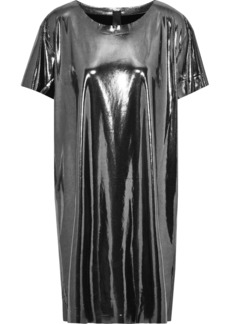 Norma Kamali Woman Lamé Mini Dress Gunmetal
