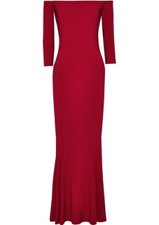 Norma Kamali Woman Off-the-shoulder Stretch-jersey Gown Red