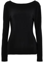 Norma Kamali Woman Open-back Draped Stretch-jersey Top Black
