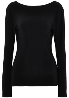 Norma Kamali Woman Open-back Draped Stretch-jersey Top Black