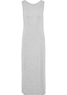 Norma Kamali Woman Open-back Mélange Stretch-jersey Midi Dress Stone