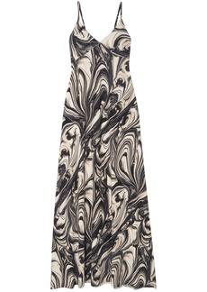 Norma Kamali Woman Printed Stretch-jersey Maxi Dress Dark Gray