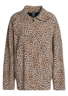 Norma Kamali Woman Reversible Leopard-print Neoprene Jacket Animal Print
