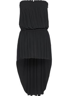 Norma Kamali Woman Strapless Gathered Jersey Mini Dress Black