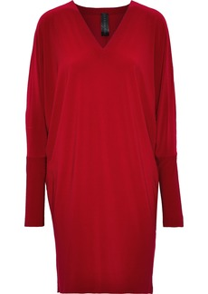 Norma Kamali Woman Stretch-jersey Dress Claret