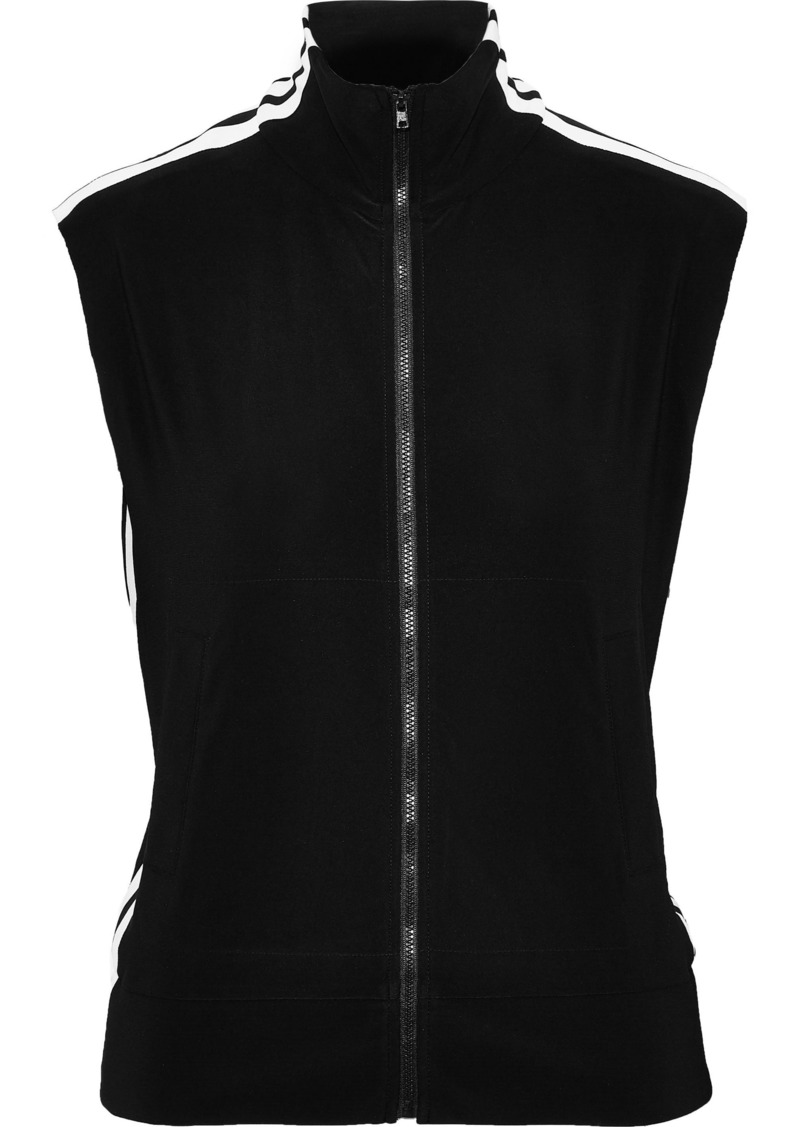 Norma Kamali Woman Striped Stretch-jersey Vest Black