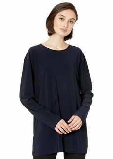 Norma Kamali Women's Boyfriend Long Sleeve Crew TOP  L
