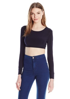 Norma Kamali Women's Crewneck Cropped Top
