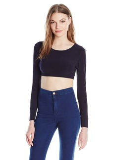 Norma Kamali Women's Crewneck Cropped Top in