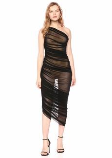 Norma Kamali Women's Diana Gown Black mesh L