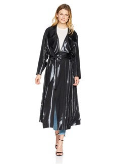 Norma Kamali Women's Dolman 80'S Flared Midcalf Trench  M