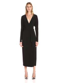 Norma Kamali Women's Dolman Wrap Dress V-Neck Line  M