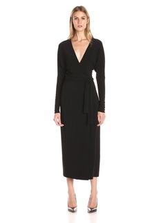 Norma Kamali Women's Dolman Wrap Dress V-Neck Line  S